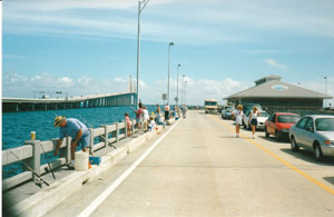 Skyway fishing pier